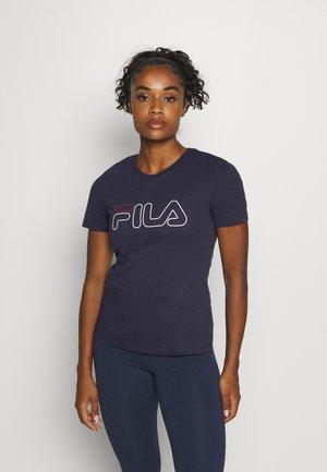LADAN TEE - T-shirts med print - black iris