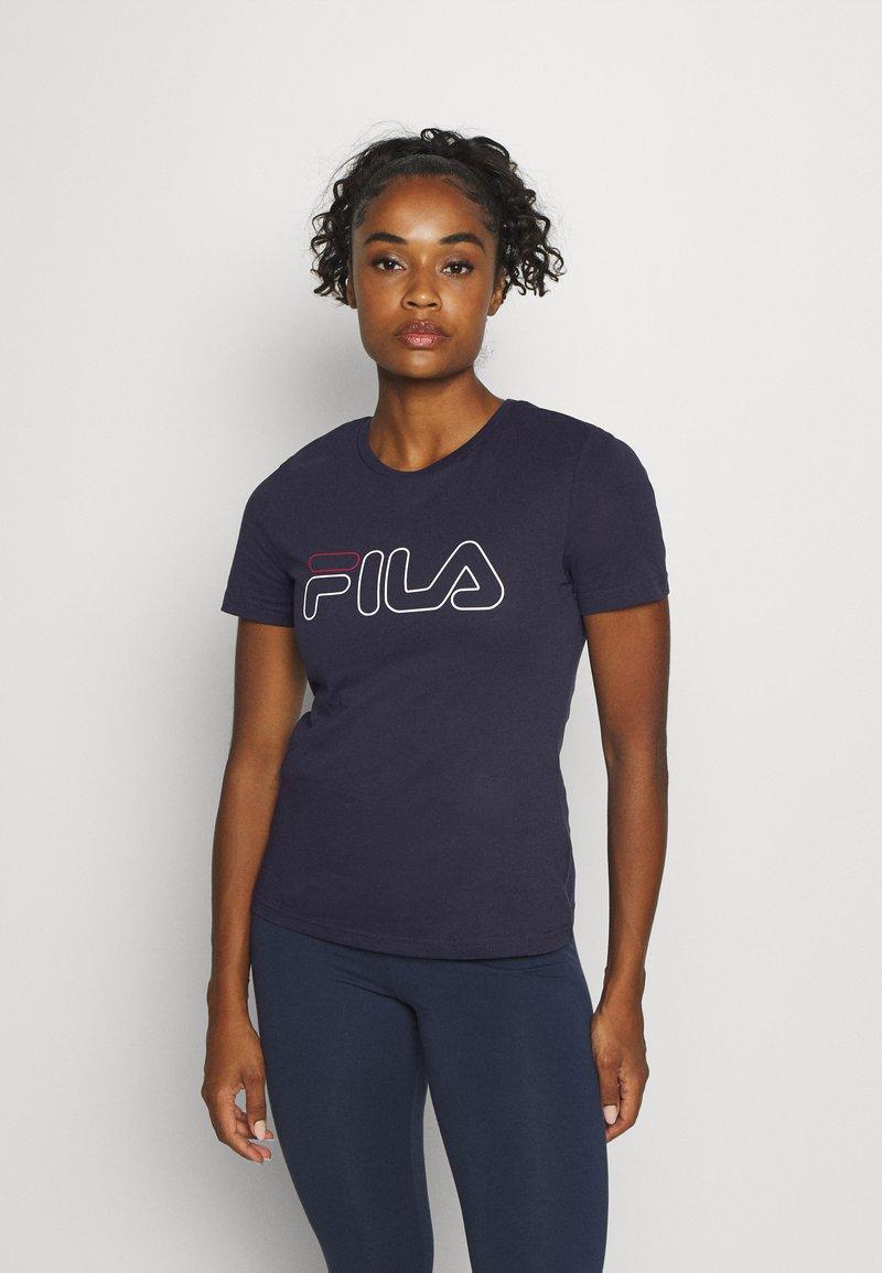 Fila - LADAN TEE - Print T-shirt - black iris
