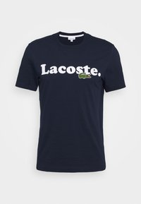 Lacoste - TH1868 - T-shirt med print - marine - 4