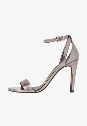 Højhælede sandaletter / Højhælede sandaler - gunmetal