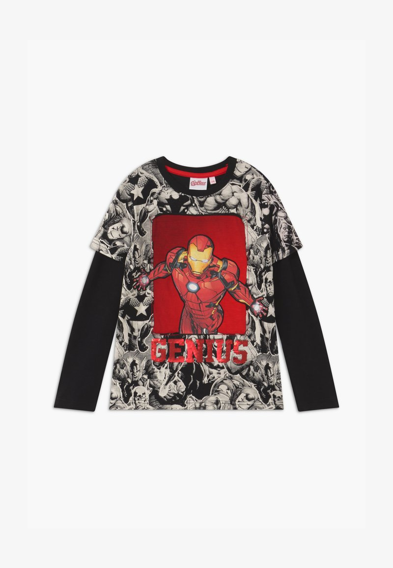 Desigual - MARVEL IRON MAN - Longsleeve - black