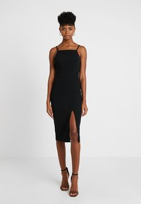 WAL G. - STRAPPY SQUARE NECK MIDI DRESS - Shift dress - black - 0
