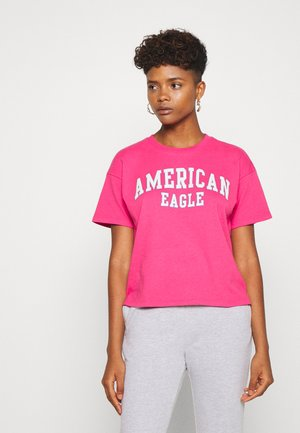 COLOR ON COLOR BRANDED - Print T-shirt - fuchsia pink