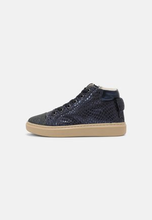 LEATHER - Trainers - dark blue