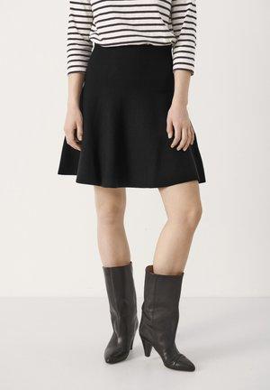 VIKASPW - A-line skirt - black