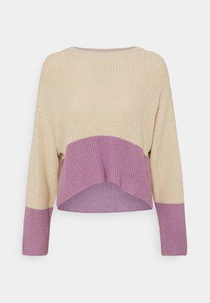 Jersey de punto - beige/lilac