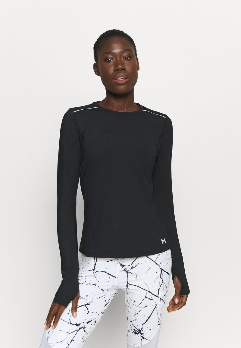 Under Armour - EMPOWERED LONG SHIRT CREW - Long sleeved top - black