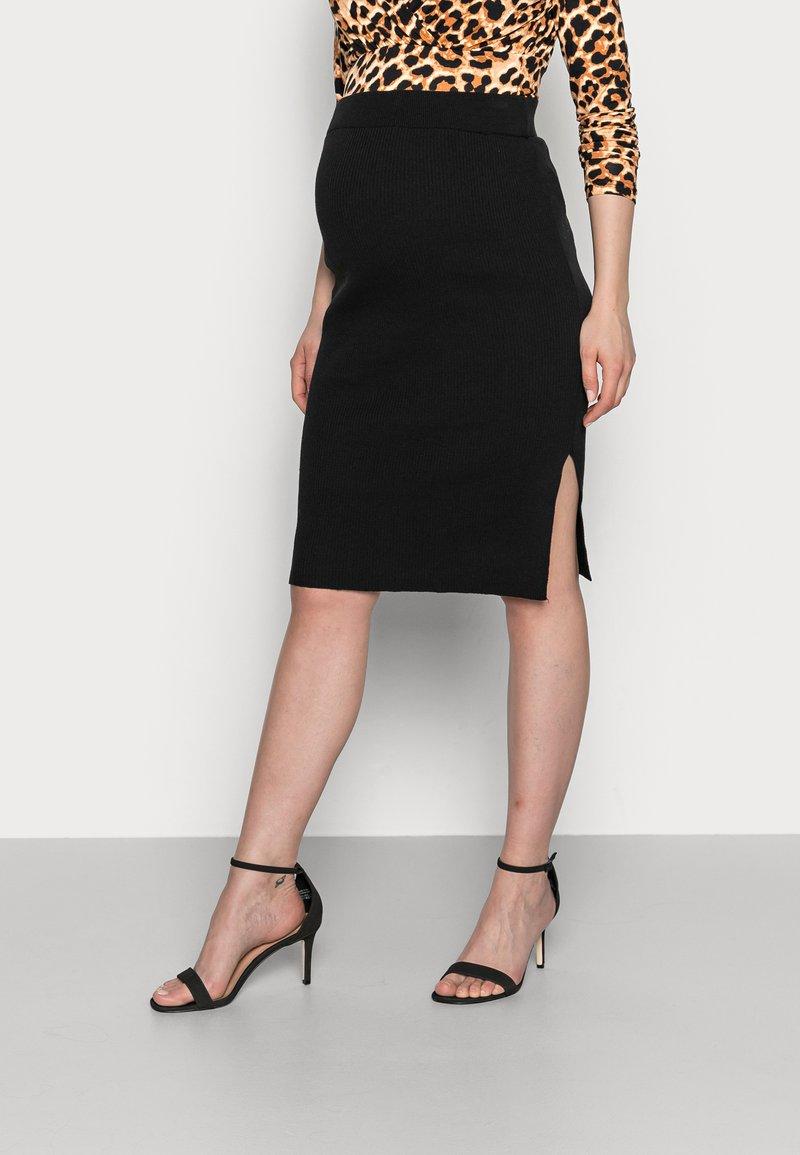 MAMALICIOUS - MLKIKA SLIM SKIRT - Pouzdrová sukně - black