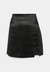 Gina Tricot - MINKY MINI SKIRT - Mini skirt - black - 4