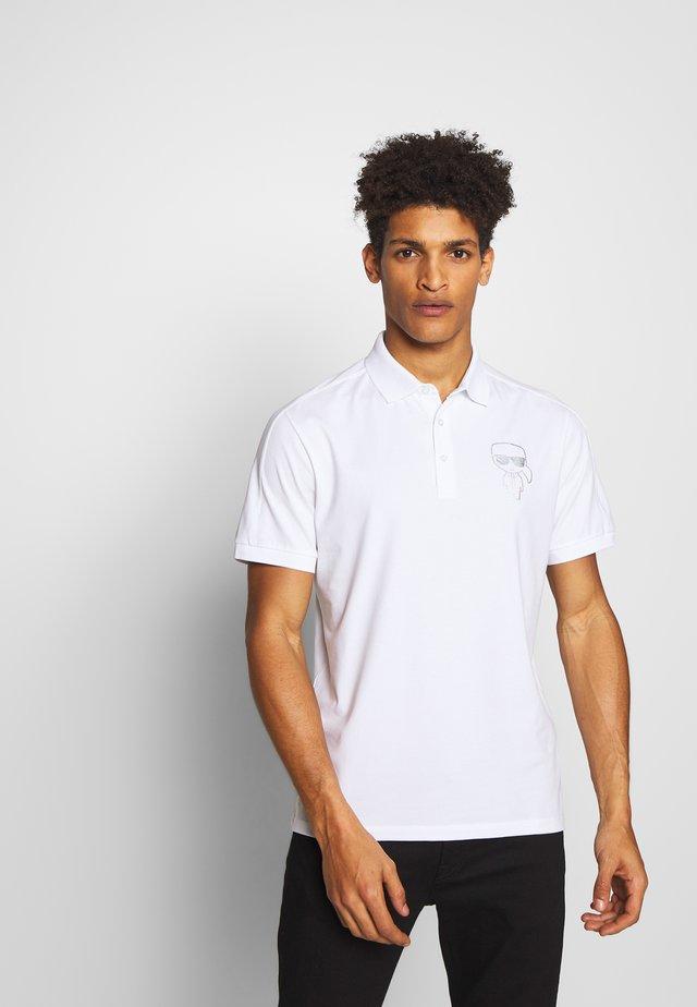 RAINBOW HOLOGRAPHIC PRINT - Poloshirt - white