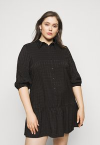 ONLY Carmakoma - CARPIERRA TUNIC DRESS - Day dress - black - 0