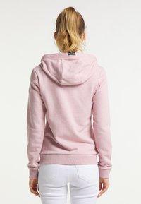 Schmuddelwedda - Zip-up sweatshirt - rosa melange - 2