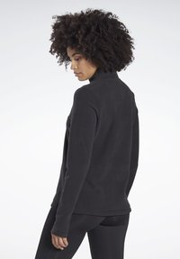 Reebok - OUTERWEAR QUARTER-ZIP TOP - Fleece jumper - black - 2