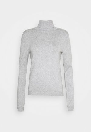 VMGLORY ROLLNECK - Jersey de punto - light grey melange