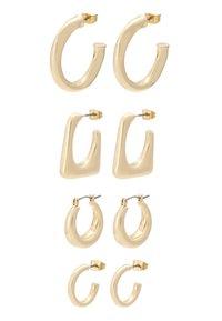 ONLY - ONLHAPPYHOOP HOOPS 4 PACK - Øreringe - gold-coloured - 2