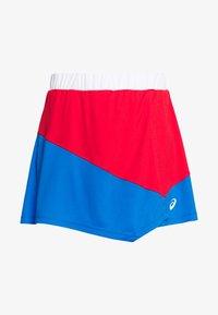ASICS - CLUB SKORT - Sportovní sukně - electric blue/classic red - 4