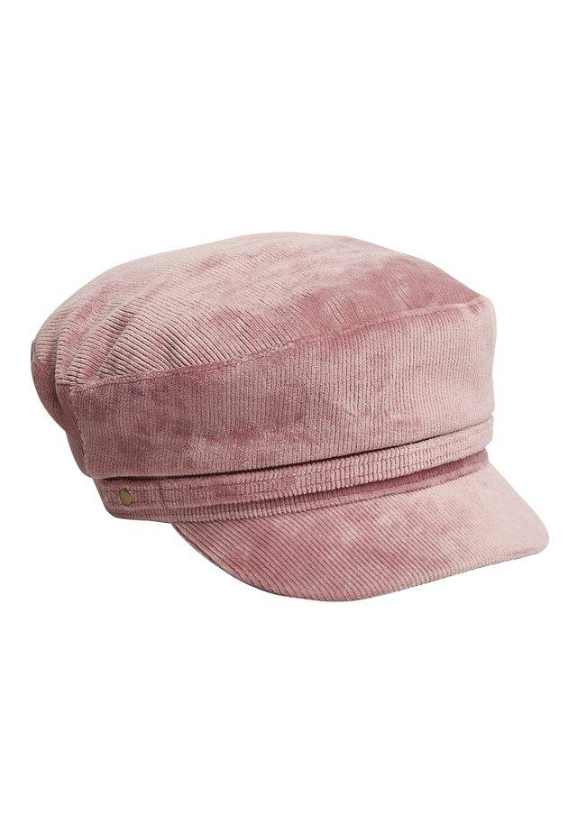 BLACK CORD BAKER BOY HAT - Hat - pink