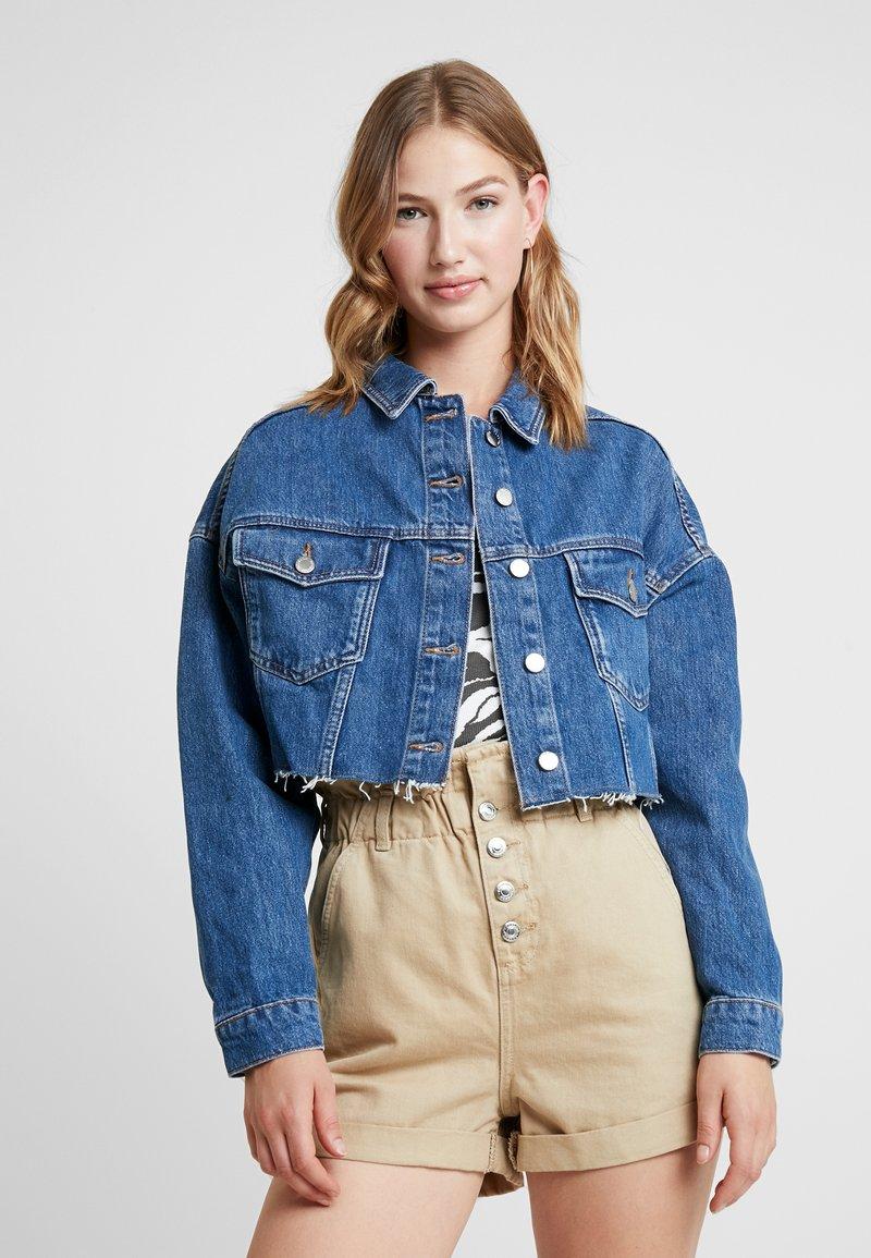 Topshop - HACK - Denim jacket - blue denim