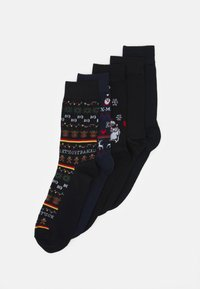 Jack & Jones - JACCOOL SNOW MEN SOCKS 5 PACK - Socks - navy blazer/black - 0