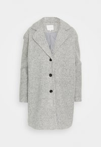 Vila - VIOLLY BUTTON COAT - Zimní kabát - light grey melange - 4