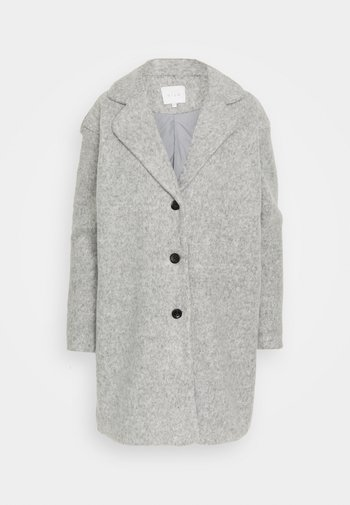 VIOLLY BUTTON COAT - Klasický kabát - light grey melange