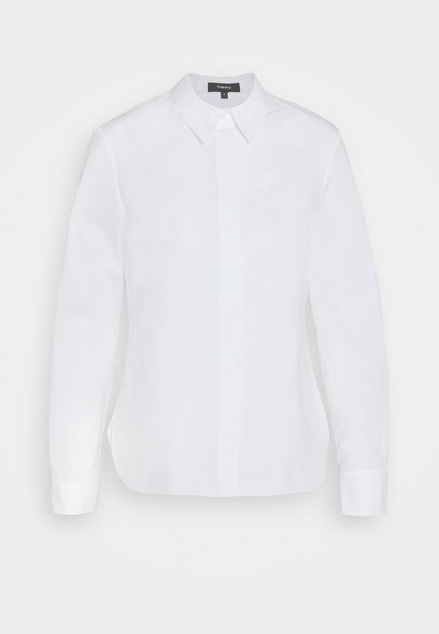 CLASSIC FITTED  - Button-down blouse - white