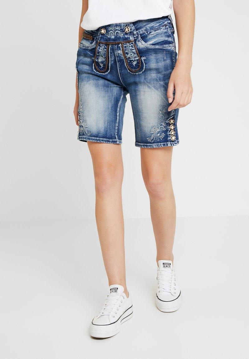 Marjo - FRANZISKA BERMUDA - Shorts - blau