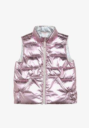 NARIE PUFFER VEST PRINT - Waistcoat - metalic/rose gold