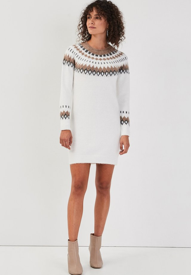 GERADES - Jumper dress - ecru