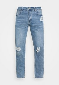 Mennace - ON THE RUN DISTRESSED - Relaxed fit jeans - blue - 4
