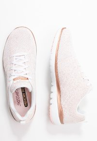 Skechers Sport - FLEX APPEAL 3.0 - Trainers - white/rose gold - 3