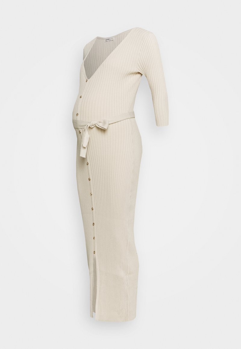 Glamorous Bloom - BUTTON MIDI DRESS WITH BELT - Vestito lungo - stone