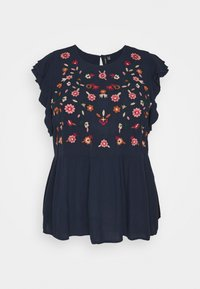 Vero Moda Curve - VMKARLINA - Print T-shirt - navy blazer - 0