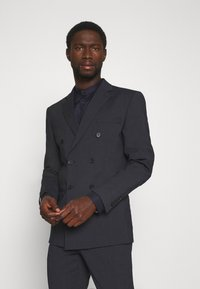 Selected Homme - SLIM FIT DOUBLE BREASTED SUIT - Oblek - dark blue/grey - 2