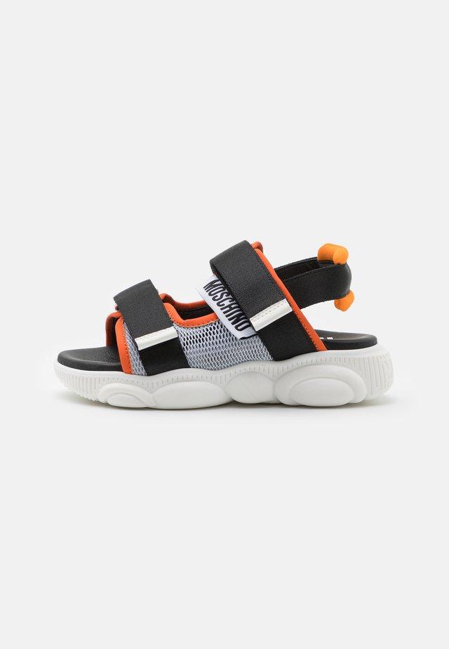 UNISEX - Sandalias - black/orange