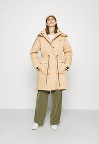 Calvin Klein Jeans - LONG UTILITY HOODED  - Winter coat - irish cream - 1