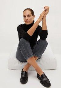 Mango - PREMIUM - Jeans straight leg - open grey - 4