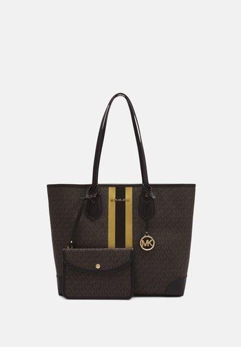 EVALG TOTE - Tote bag - brown/gold