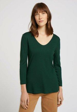 Long sleeved top - dark pine green