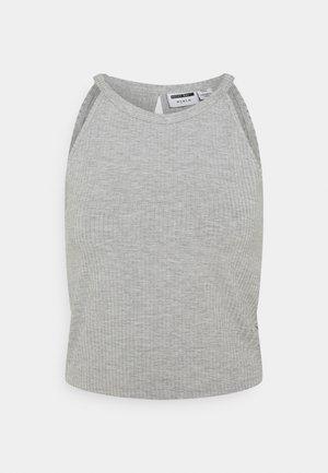 NMEDDA HALTERNECK - Top - light grey melange