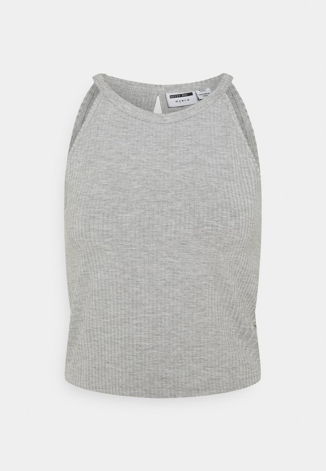 NMEDDA HALTERNECK - Top - light grey melange