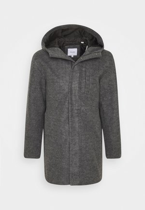 JJGEORGE HOODED COAT - Cappotto classico - dark grey