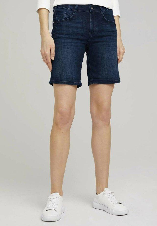 Shorts di jeans - clean dark stone blue denim