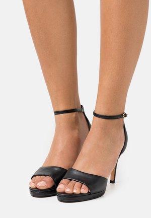 VEGAN RONJA - Sandalen met hoge hak - black