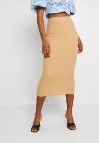 Missguided - MIDAXI SKIRT  - Maxi skirt - camel - 0