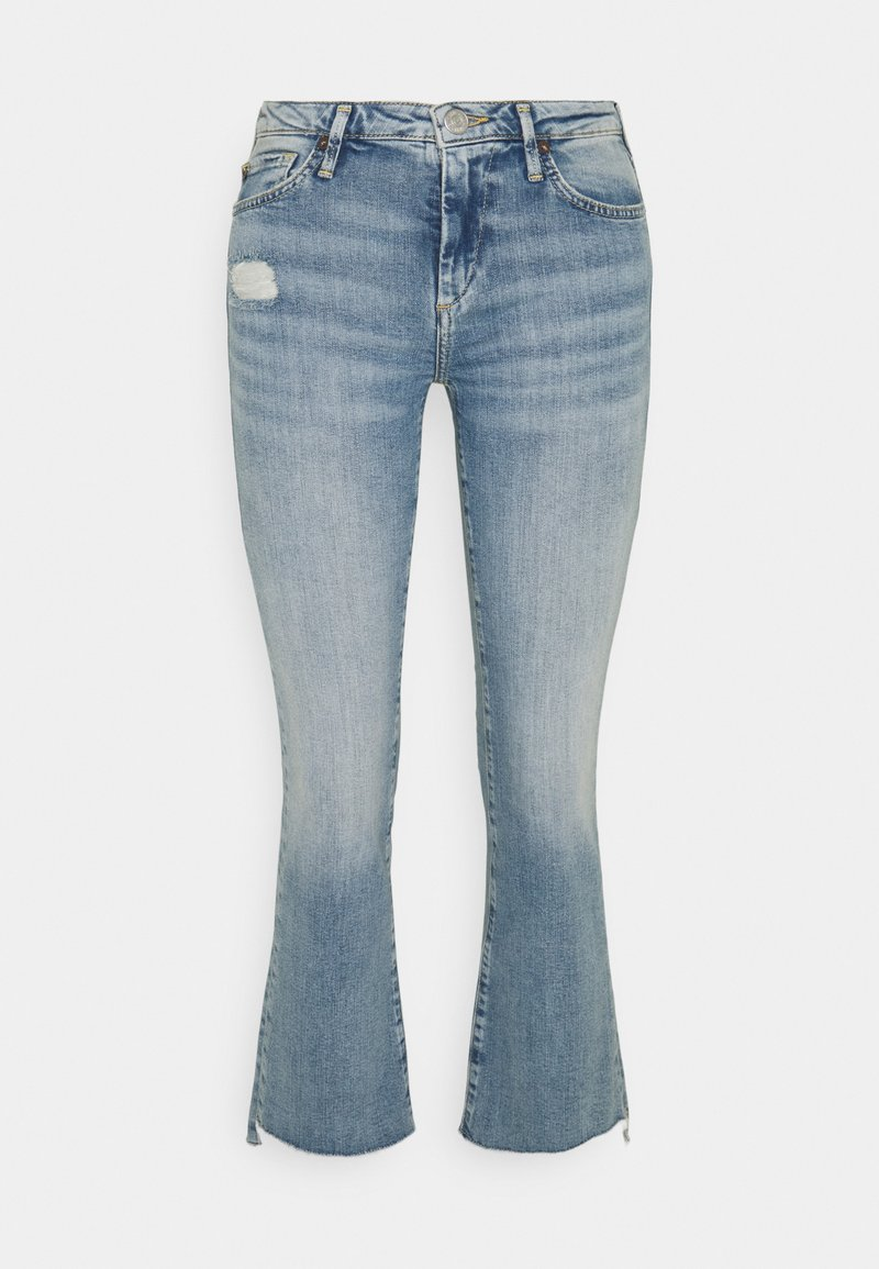 True Religion - NEW HALLE KICK - Flared Jeans - blue denim