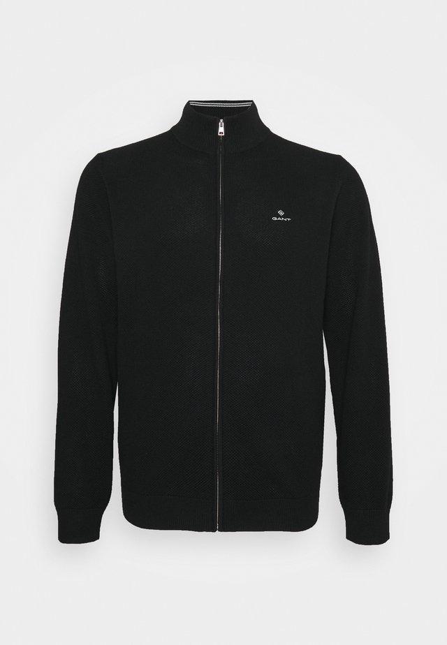 PLUS ZIP - Cardigan - black