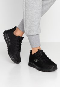 Skechers Wide Fit - GRACEFUL WIDE FIT - Sneakers - black - 0