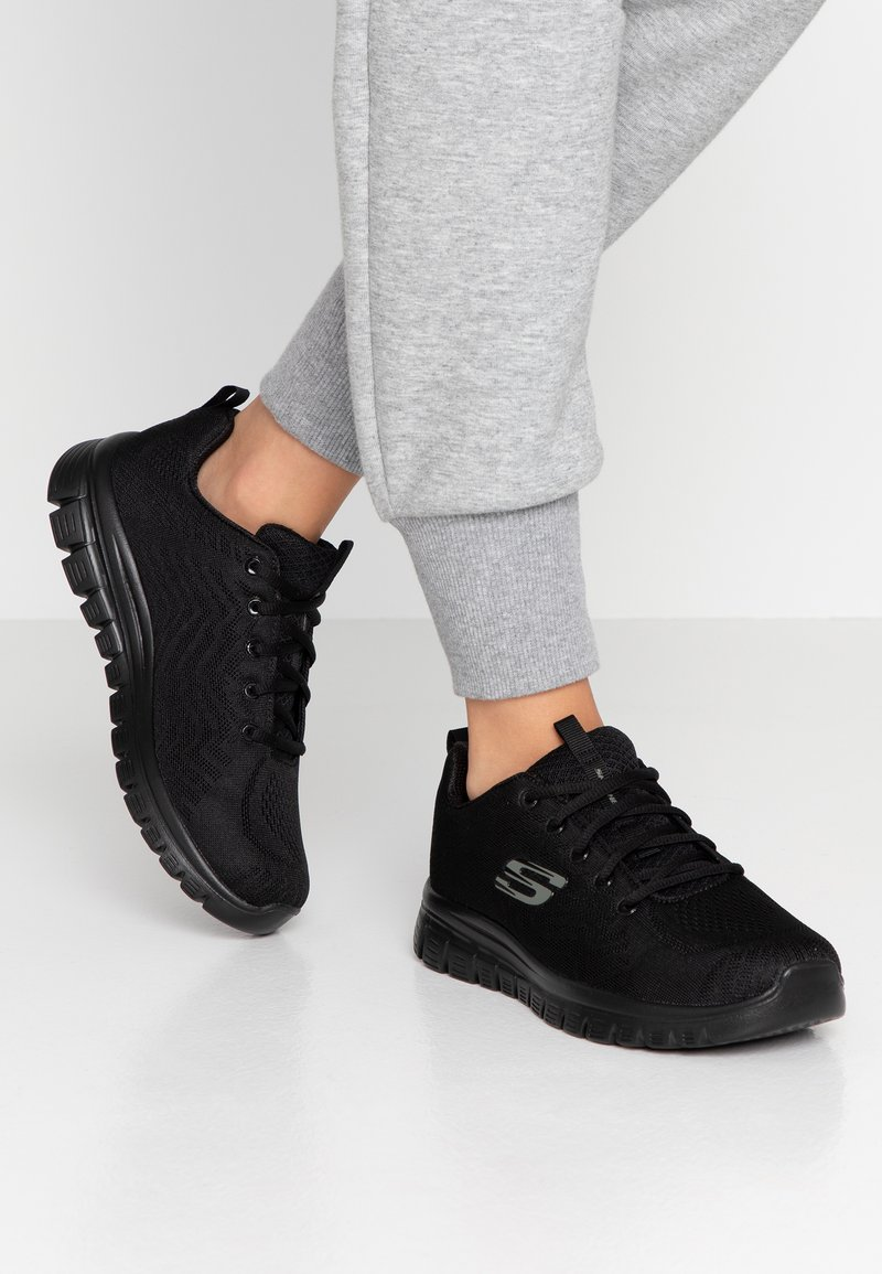 Skechers Wide Fit - GRACEFUL WIDE FIT - Trainers - black