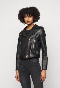 LIU JO - CHIODO - Leather jacket - nero - 0